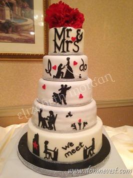 свадебный торт с историей любви