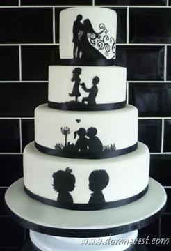 торт с силуэтами