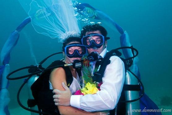 планирование подводной свадьбы