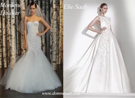 Свадебные платья от Elie Saab и Monique Lhullier