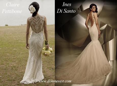 свадебные платья от Ines Di Santo и Claire Pettibone