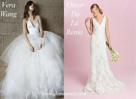 свадебные платья от Oscar De La Renta и Vera Wang