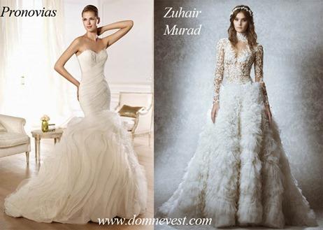 Свадебные платья от Pronovias и Zuhair Murad