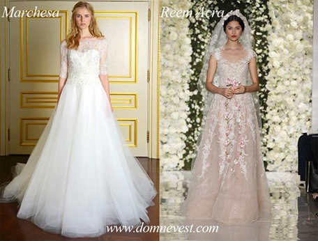 Свадебные платья от Reem Acra и Marchesa