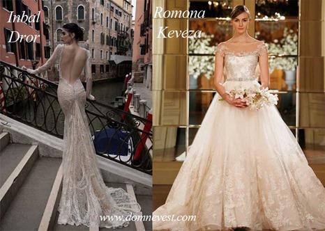 свадебные платья от Romona Keveza и Inbal Dror