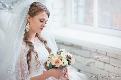кружевные свадебные серьги