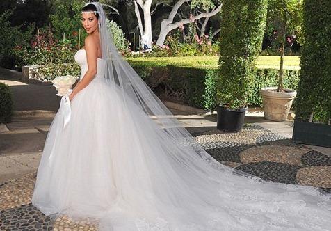 свадебное платье Ким Кардашьян от Веры Вонг