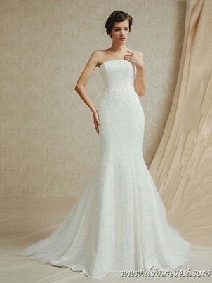 свадебное платье со стразами по всей длине