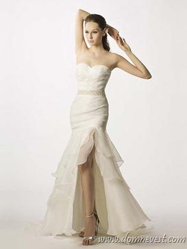 свадебное платье с поясом из стразов
