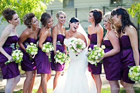 подружки невесты в коротких платьях