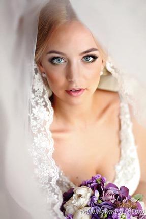 нежный свадебный образ