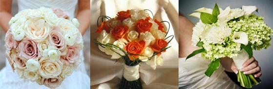 двухцветные свадебные букеты