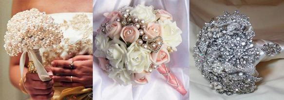 свадебные букеты не из живых цветов