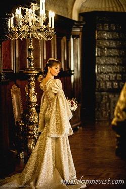 невеста в средневековом стиле