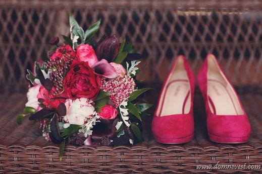 туфли и букет невесты