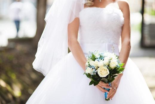 свадебный букет в бирюзовом цвете
