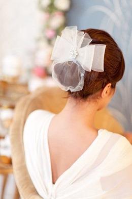 свадебная прическа с бантом