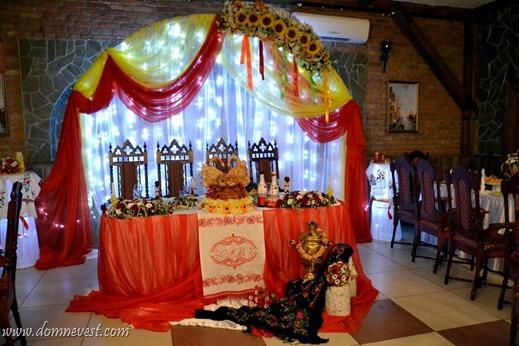 декорации для казачьей свадьбы