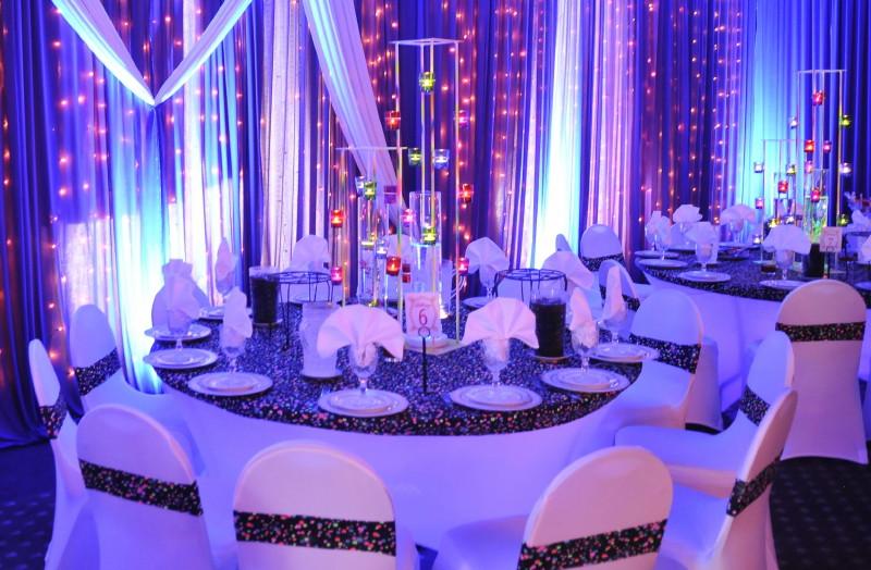 оформление столов и стульев на свадьбе