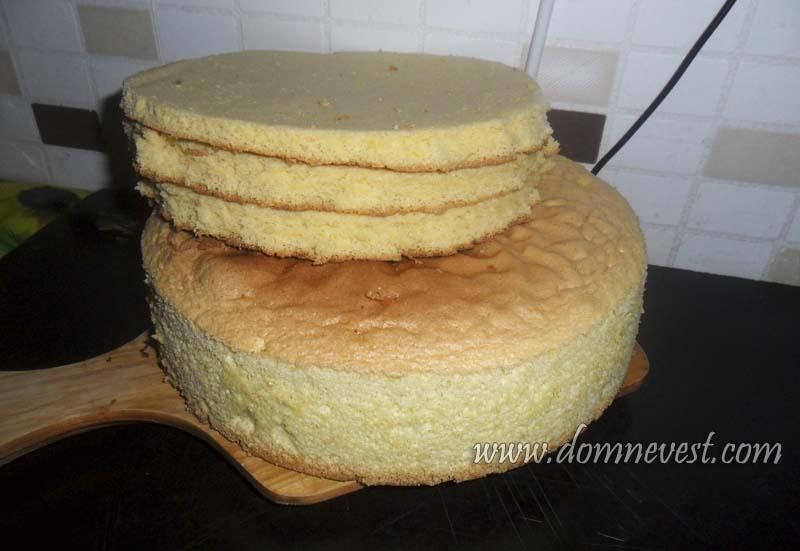 коржи для торта на годовщину