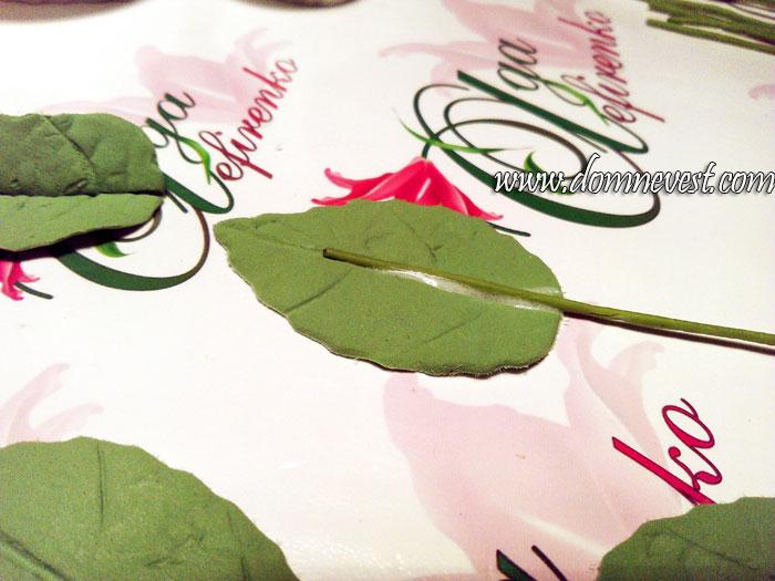 лепка листьев для свадебюного букета