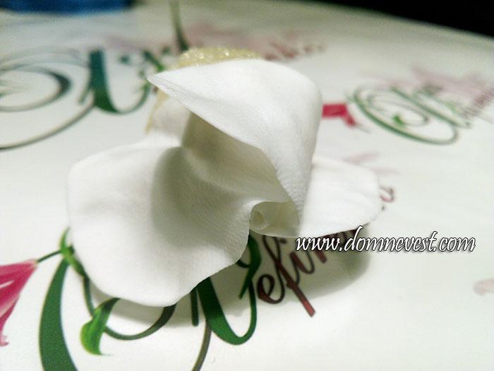 лепка розы для свадебного букета