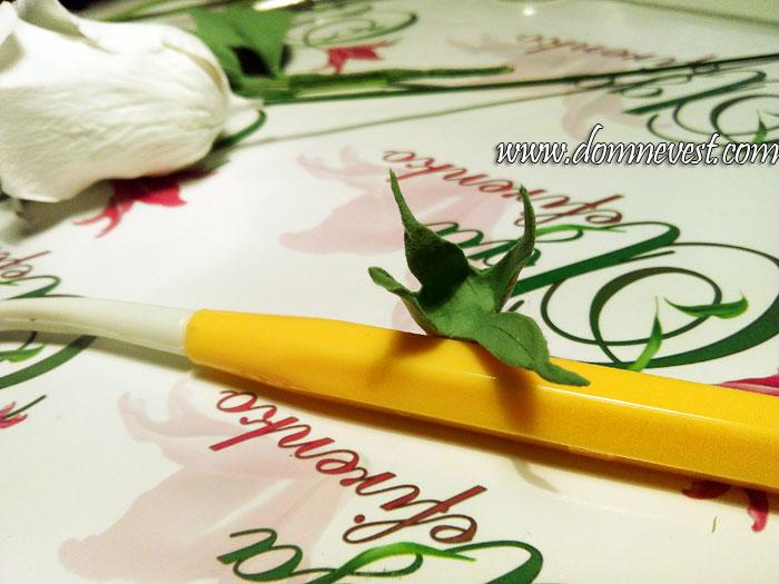 лепка стебля для свадебного букета