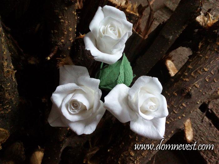 цветы из полимерной глины для свадебного букета