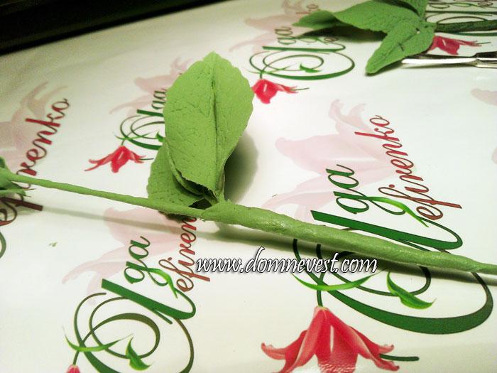 цветы своими руками стебель