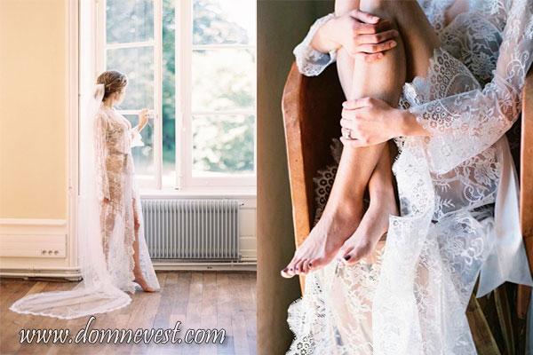 кружевной халат для невесты