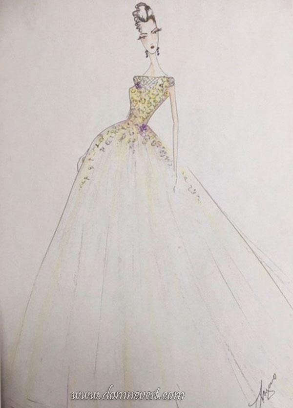 свадебное платье Lazaro 2018