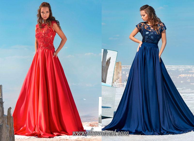 длинные платья с юбкой свободного покроя для подружек невесты