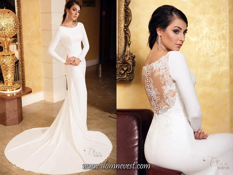 свадебные платья с непрозрачными длинными рукавами