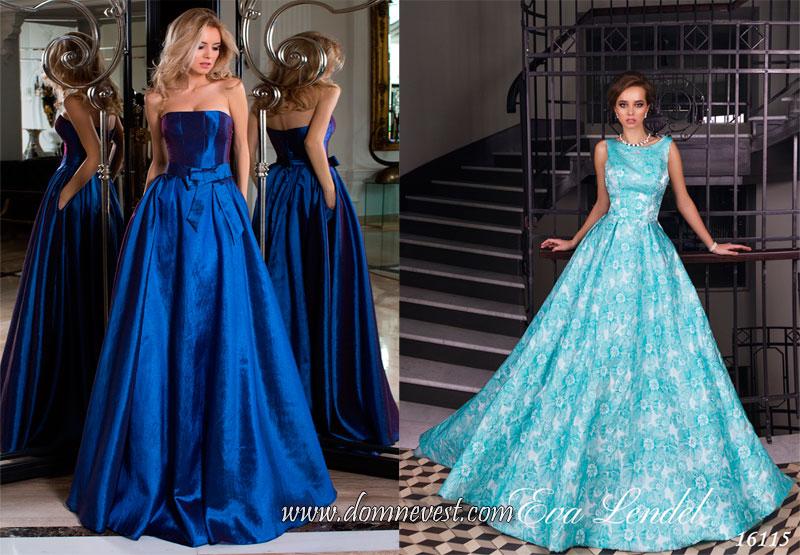 цветные длинные платья для подружек невесты