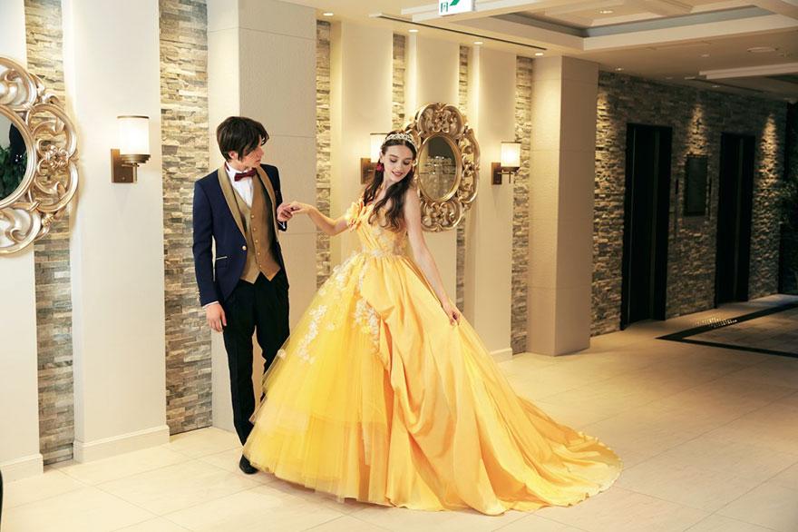 Свадебное платье в стиле Белль