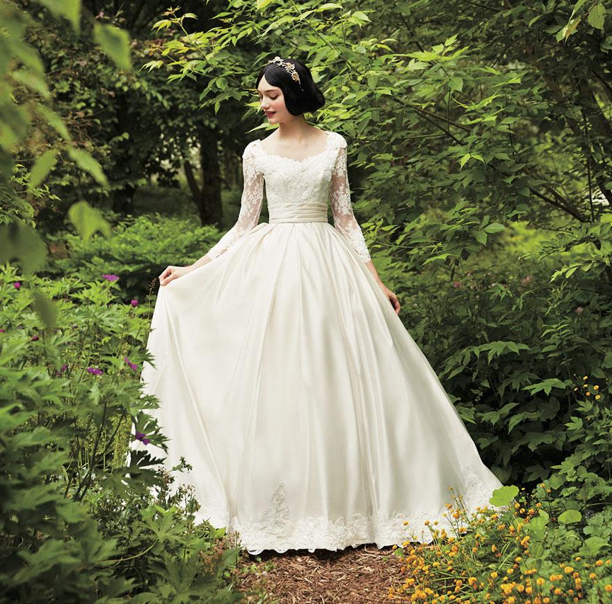 Свадебное платье в стиле Белоснежки