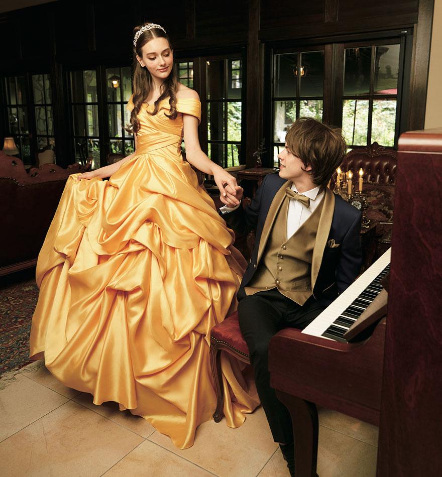 свадебное платье в стиле Белль Красавица и чудовище