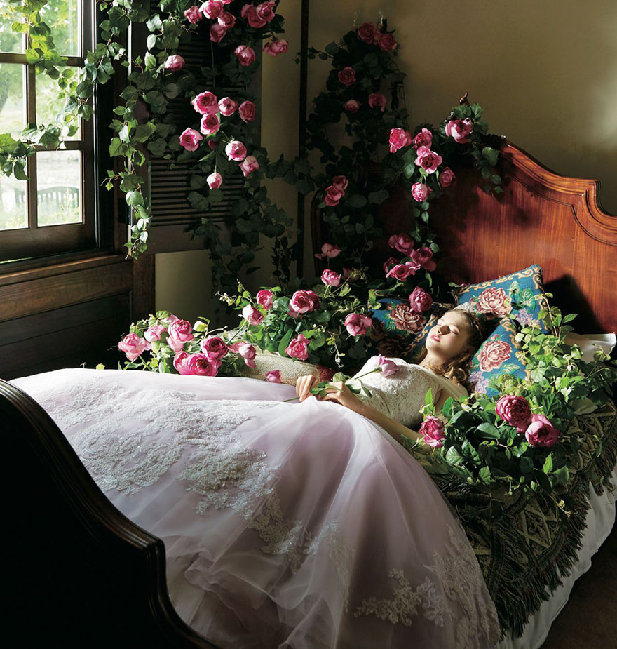 свадебное платье в стиле принцессы Авроры
