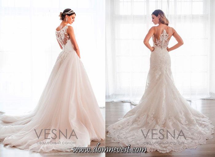 свадебные платья с полупрозрачной спинкой