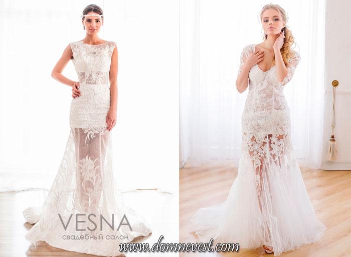 свадебные платья с полупрозрачной юбкой