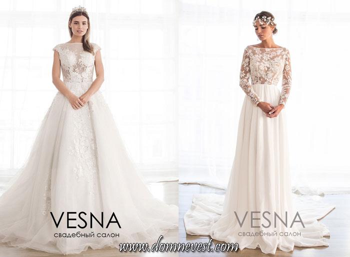 свадебные платья с полупрозрачным верхом