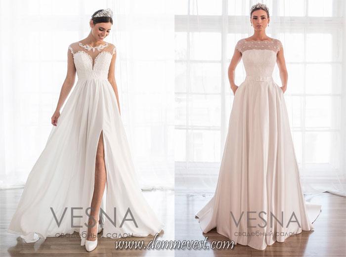 свадебные платья с полупрозрачным декольте