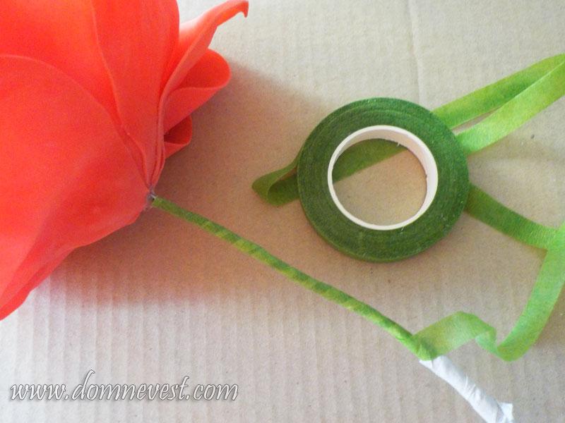 стебель розы из фоамирана