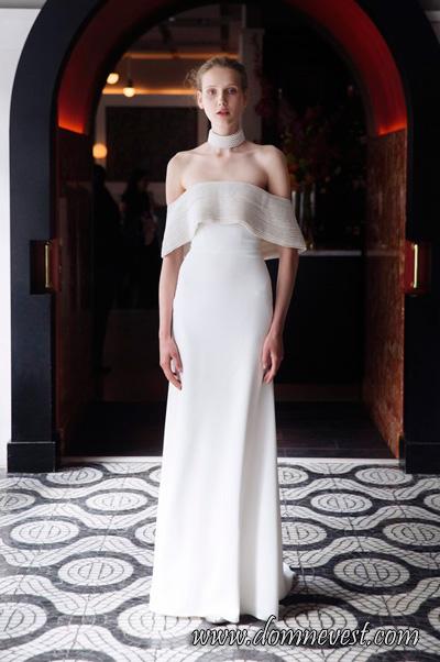 чокер для невесты от Lela Rose