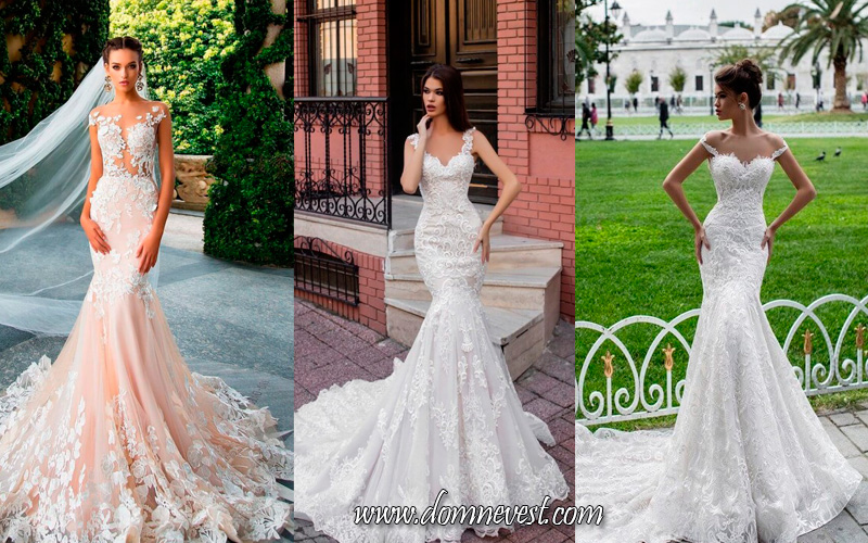 свадебные платья в стиле Trumpet труба