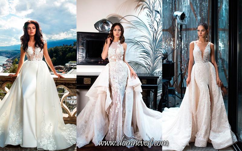 Свадебные платья в стиле русалка и рыбка трансформеры