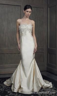 свадебное платье с ювелирным декольте