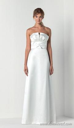 двухслойное декольте свадебного платья