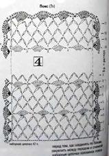 схема вязания пояса
