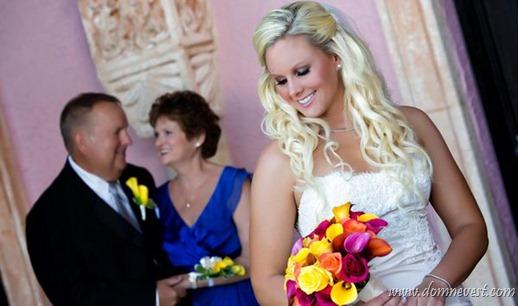 невеста с родителями постановочное фото